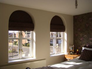 Tailored roman blinds